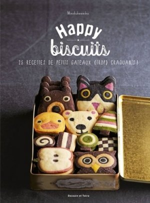 Happy biscuits. 25 recettes de petits gâteaux (trop) craquants ! - Dessain et Tolra - 9782295007759 - majbook ème édition, majbook 1ère édition, livre ecn major, livre ecn, fiche ecn