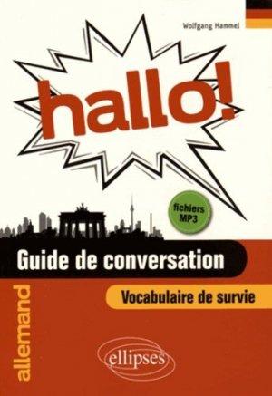 Hallo ! Guide de conversation, vocabulaire de survie - Ellipses - 9782340004887 -