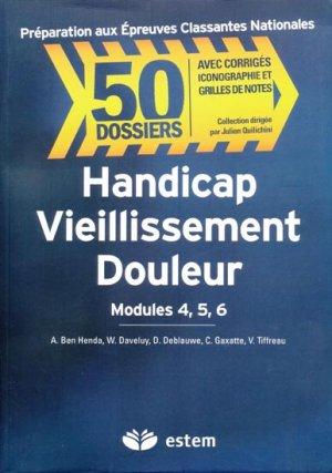 Handicap Vieillissement Douleur Modules 4, 5, 6 - estem - 9782843714214 -