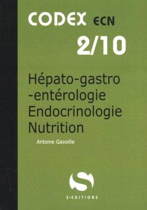 Hépato-gastro-entérologie - Endocrinologie-Nutrition - s editions - 9782356401748 -