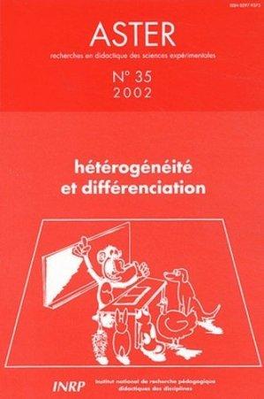 Hétérogénéité et différenciation - INRP - 9782734209218 -