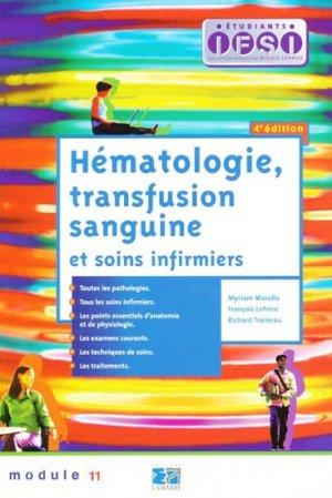 Hématologie, transfusion sanguine et soins infirmiers - lamarre - 9782757301913