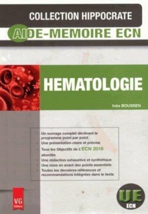 Hématologie - vernazobres grego - 9782818313428 -