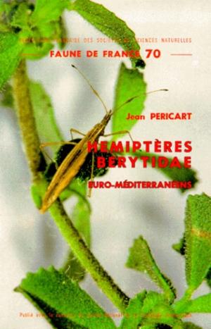 Hémiptères Berytidae euro-méditerranéens - federation francaise des societes de sciences naturelles - 9782903052041 -