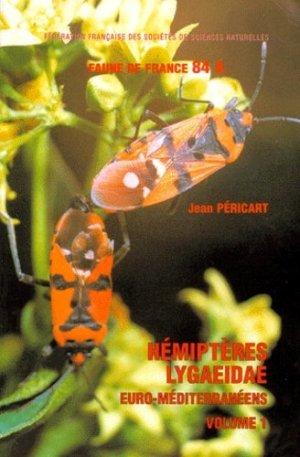 Hémiptères lygaeidae euro-méditerranéens - federation francaise des societes de sciences naturelles - 9782903052188 -