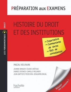Histoire du droit et des institutions - Hachette - 9782011462053 -
