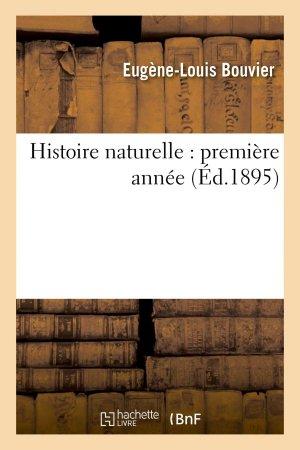 Histoire naturelle : première année - hachette livre / bnf - 9782013732338 -