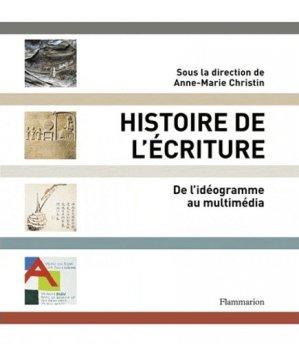Histoire de l'écriture - flammarion - 9782081237988 -