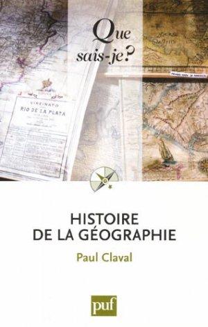 Histoire de la Géographie - puf - presses universitaires de france - 9782130586524 -