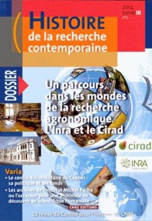 Histoire de la recherche contemporaine - cnrs - 9782271086631 -