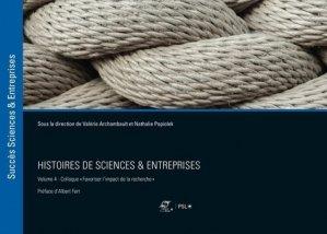 Histoires de sciences & entreprises - presses des mines - 9782356716071 -