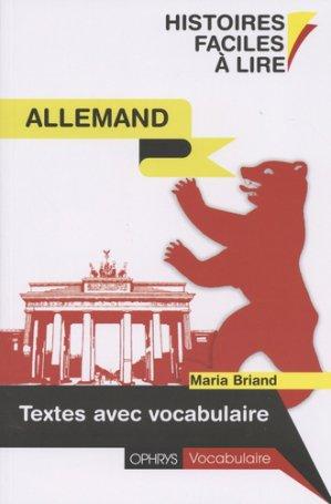 Histoires Faciles à Lire en Allemand - ophrys - 9782708006386 -