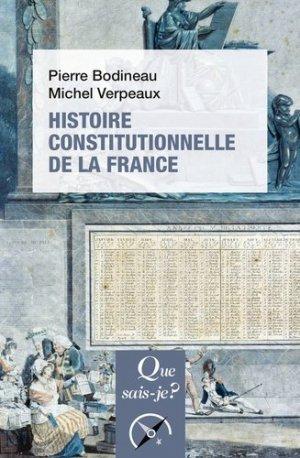 Histoire constitutionnelle de la France - puf - 9782715403208 -