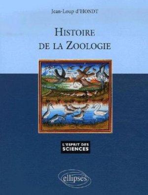 Histoire de la zoologie - ellipses - 9782729829209 -