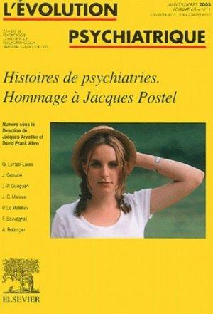 Histoires de psychiatries.Hommage à Jacques Postel - elsevier / masson - 9782842994891 -