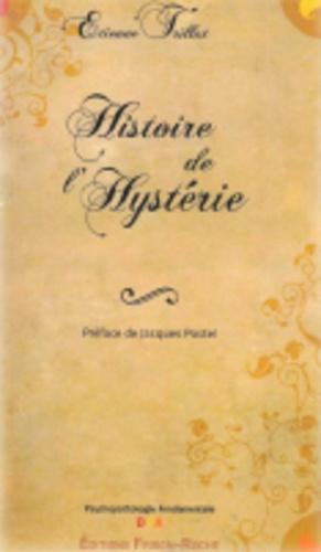 Histoire de l'hystérie - frison roche - 9782876714779 -
