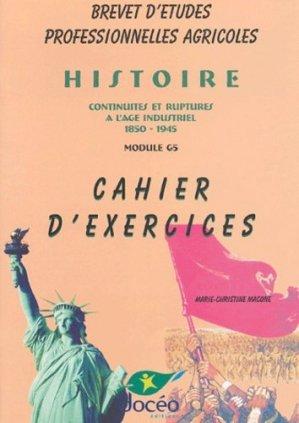 Histoire Continuités et ruptures à l'âge industriel 1850-1945 Module G5 BEPA Cahier d'exercices  - doceo - 9782909662541 -