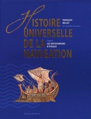 Histoire universelle de la navigation. Tome 1, Les découvreurs d'étoiles - de monza - 9782916231426 -