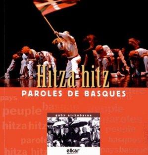 Hitza hitz. Paroles de Basques - Elkar - 9788415337676 -