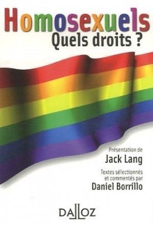 Homosexuels. Quels droits ? - dalloz - 9782247071029 -
