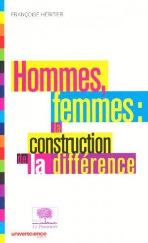Hommes femmes: la construction de la différence - le pommier - 9782746505087