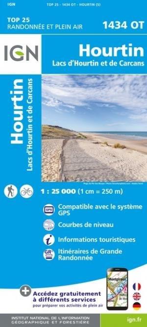 Hourtin, lacs d'Hourtin et de Carcans - Institut Géographique National - 9782758551423 -