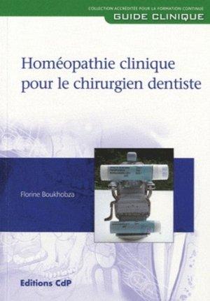 Homéopathie clinique pour le chirurgien dentiste - cdp - 9782843611452