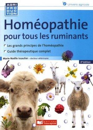 Homéopathie pour les ruminants - Editions France Agricole - 9782855577081 -