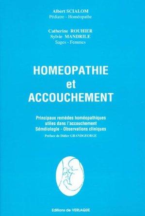 Homéopathie et accouchement - de verlaque - 9782876440227 -