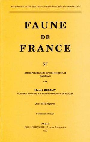 Homoptères Auchénorhynques II Jassidae - federation francaise des societes de sciences naturelles - 9782903052232 -
