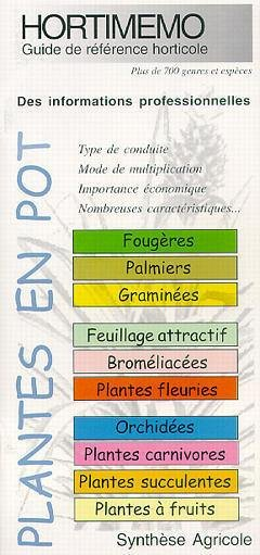 Hortimémo Plantes en pot - synthèse agricole - 9782910340254 -
