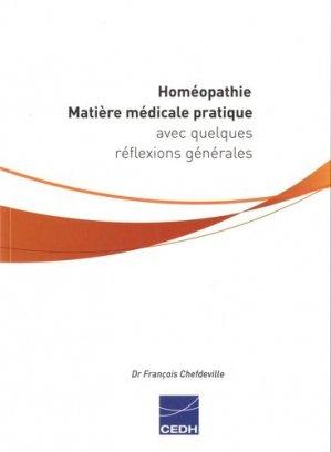 Homéopathie - cedh - 9782915668704 -