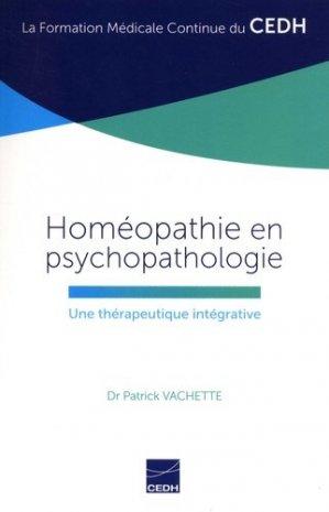 Homéopathie en psychopathologie - cedh - 9782915668766 -