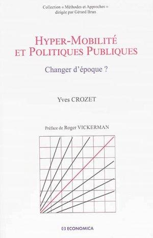 Hyper-mobilité et politiques publiques - economica anthropos - 9782717868623
