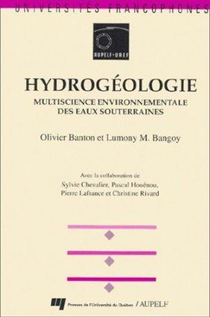 Hydrogéologie multiscience environnementale des eaux souterraines - presses de l'université du québec / aupelf - 9782760509269 -