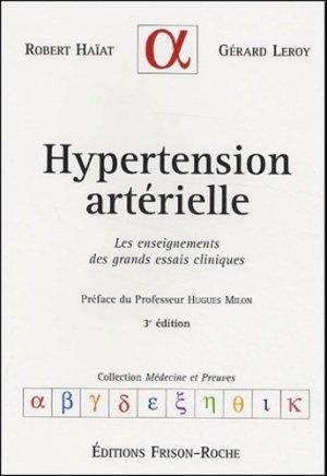 Hypertension artérielle - frison roche - 9782876714441 -