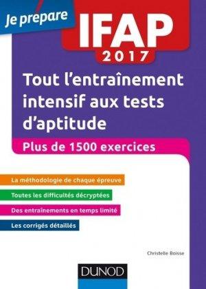 IFAP 2017 Tests d'aptitude - Entraînement intensif - dunod - 9782100759118 -
