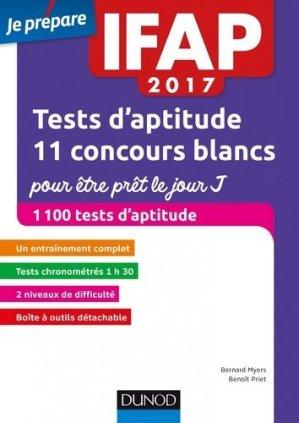 IFAP 2017-2018 Tests d'aptitude - dunod - 9782100759156 -