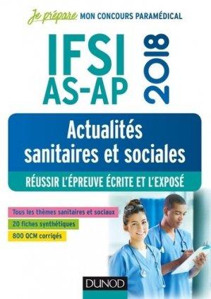 IFSI-AS-AP 2018 - Actualités sanitaires et sociales - dunod - 9782100769551 -
