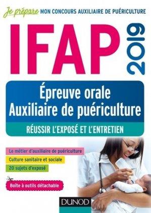 IFAP 2019 - Epreuve orale Auxiliaire de puériculture - dunod - 9782100789214