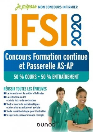IFSI 2020 Concours formation continue et passerelle - dunod - 9782100800926 -