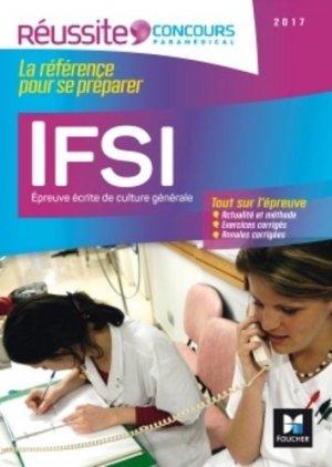 IFSI L'épreuve écrite de culture générale - Concours 2017 - foucher - 9782216133918 -