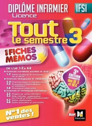 IFSI Tout le semestre 3 en fiches mémos - Diplôme infirmier - foucher - 9782216146642 -
