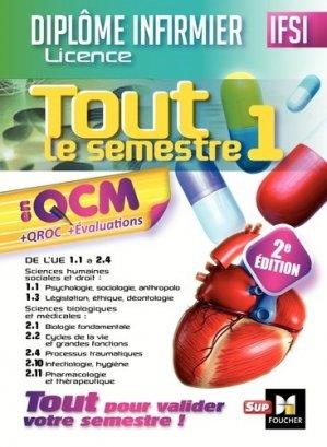 IFSI Tout le semestre 1 en QCM et QROC - Diplôme infirmier - foucher - 9782216146659 -
