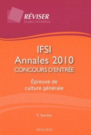 IFSI Annales 2010 - maloine - 9782224032371