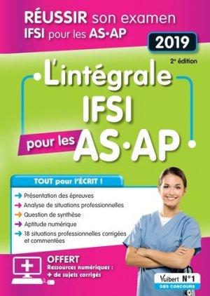 IFSI pour les AS, AP : réussir son concours IFSI pour les AS, AP 2019 - vuibert - 9782311660692