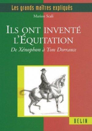 Ils ont inventé l'Équitation - belin - 9782701146898 -