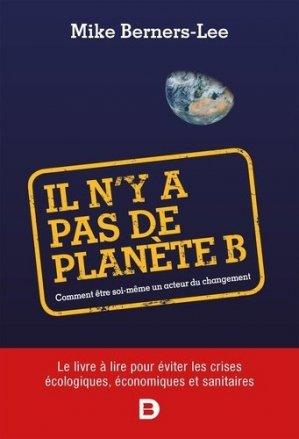 Il n'y a pas de planète B - de boeck supérieur - 9782807330986 -