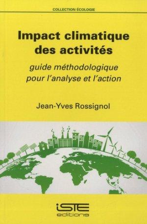 Impact climatique des activités - iste - 9781784056063 -