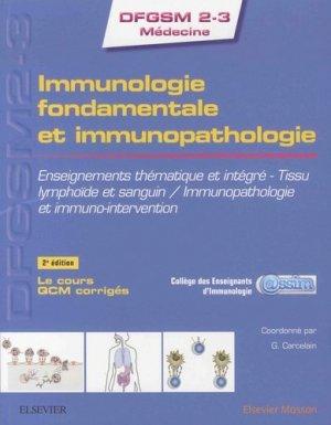 Immunologie fondamentale et immunopathologie - elsevier / masson - 9782294756580
